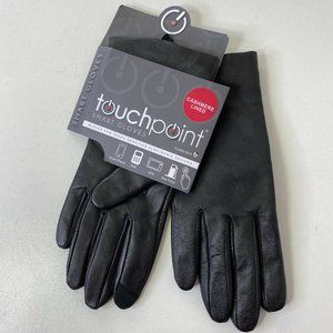 Fownes Tech Touchpoint Leather Cashmere Gloves